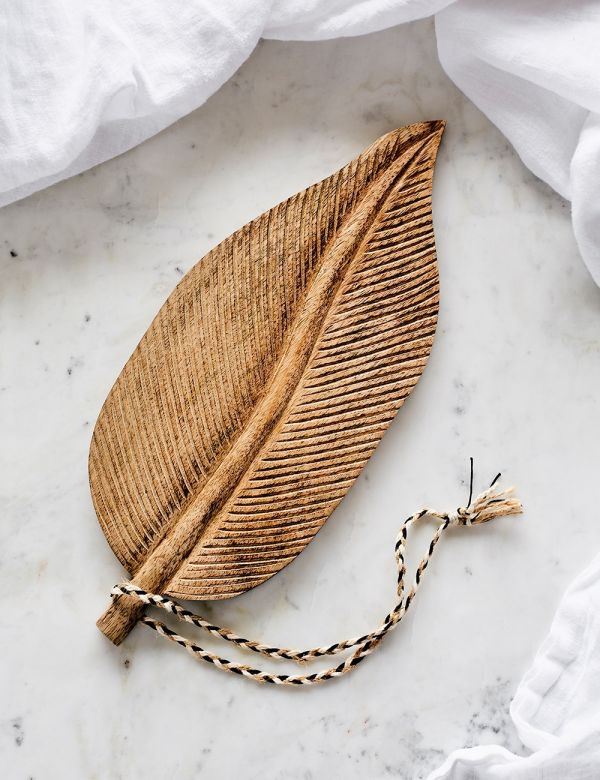 Leaf Wooden Serving Dish