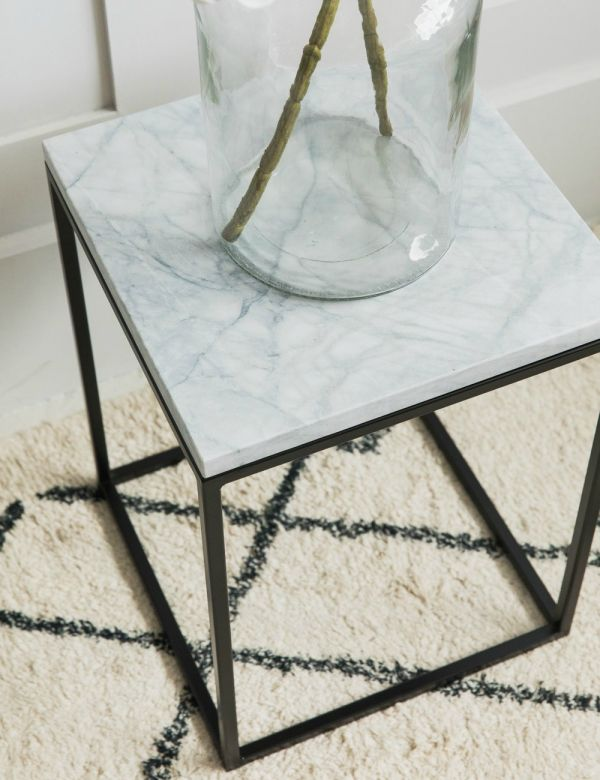 Lily Small Marble Side Table by Zuiver