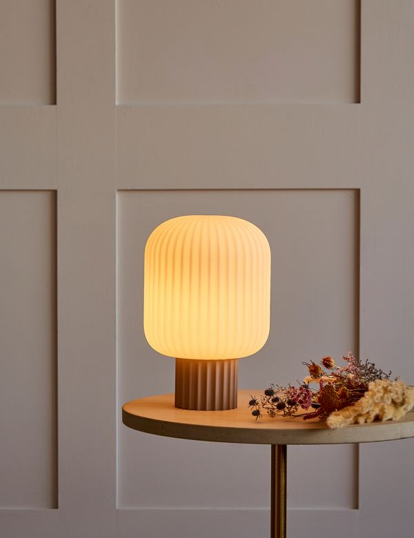Lolly Beige Opal Glass Table Lamp - Short