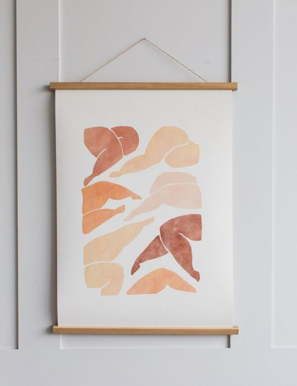 Magentic Wooden Oak Sticks Poster Frame