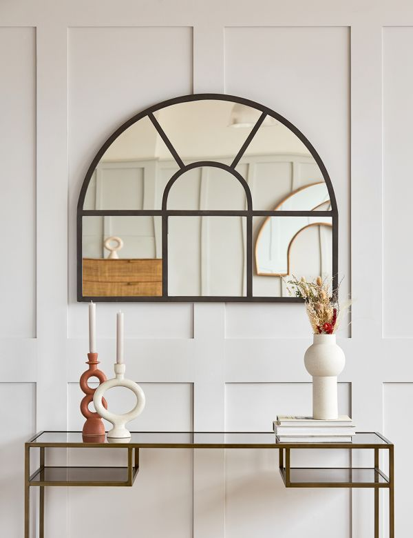 Mantle Arch Paned Mirror
