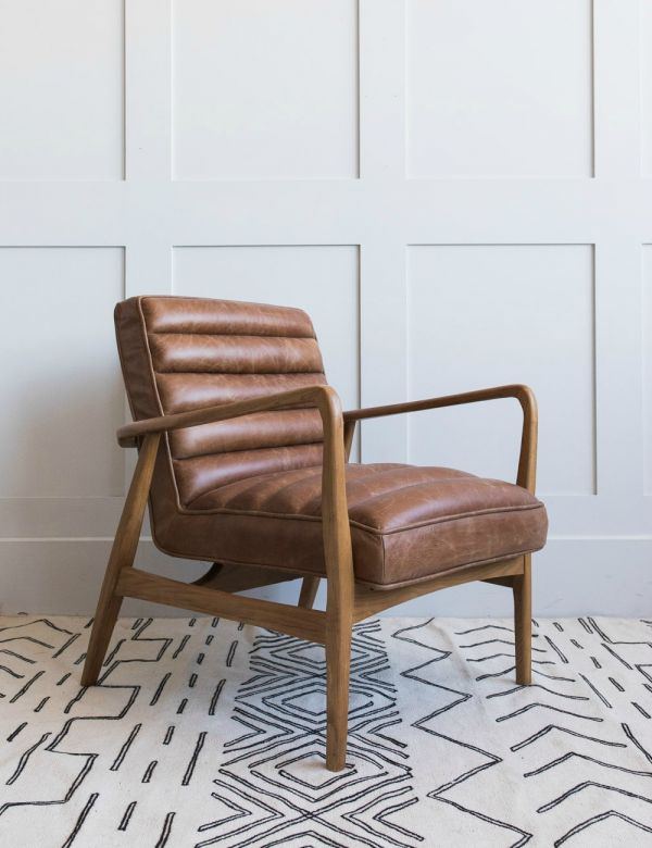 Mid-Century Leather Armchair Main