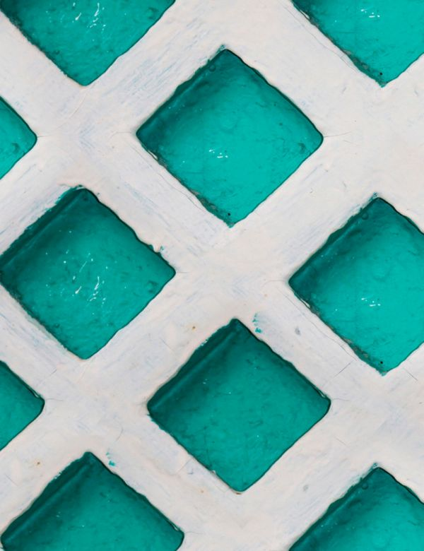 Mind The Gap Wallpaper Collection - Concrete Patch Turquoise