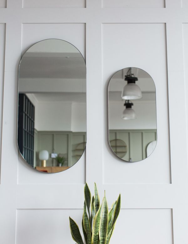 Minimal Oval Mirror - Two Sizes Available