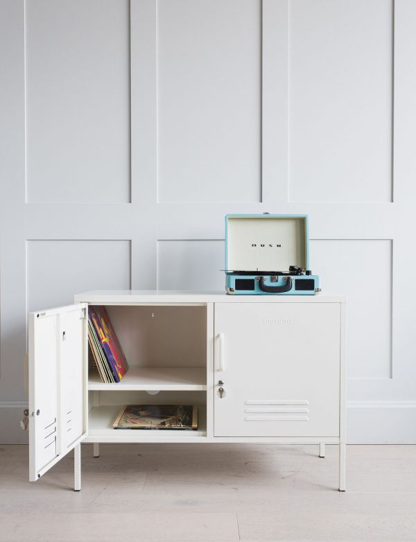 Mustard Made Lockers - The Lowdown Locker - White