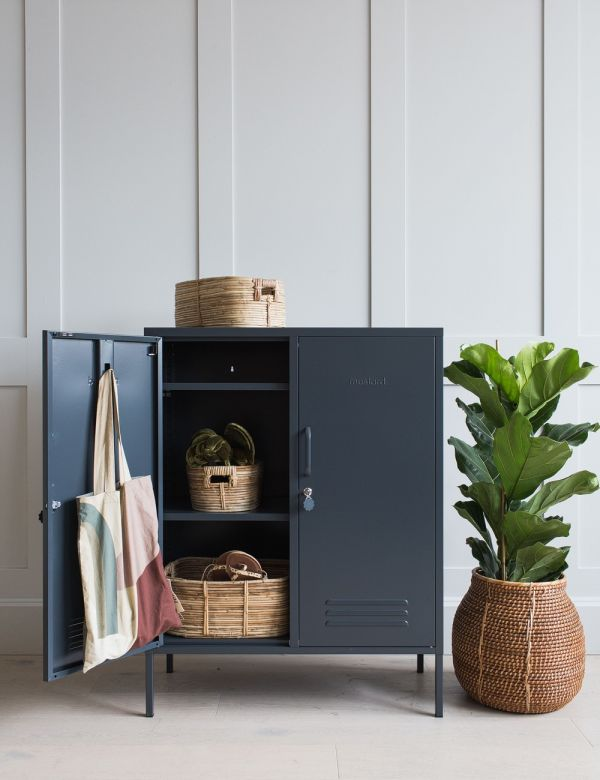 Mustard Made Lockers - The Midi Locker - Slate Grey