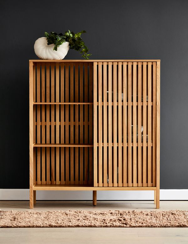Natural Ash Linear Tall Cabinet