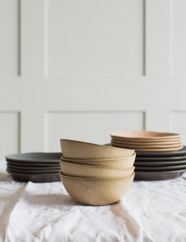 Natural Ceramic Cereal Bowl