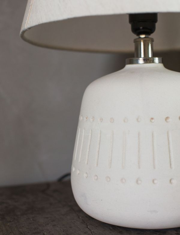 Natural Stoneware Table Lamp