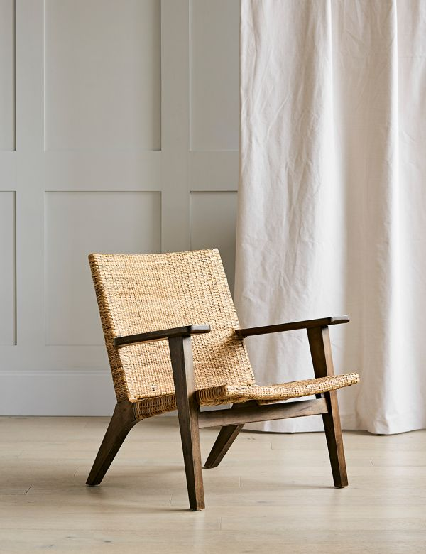 Natural Woven Lounge Chair