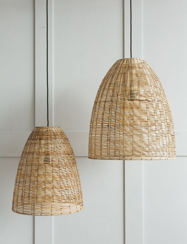 Noko Wicker Conical Pendant - Natural