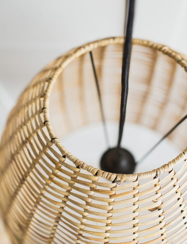 Noko Wicker Conical Pendant - Natural - Two Sizes Available