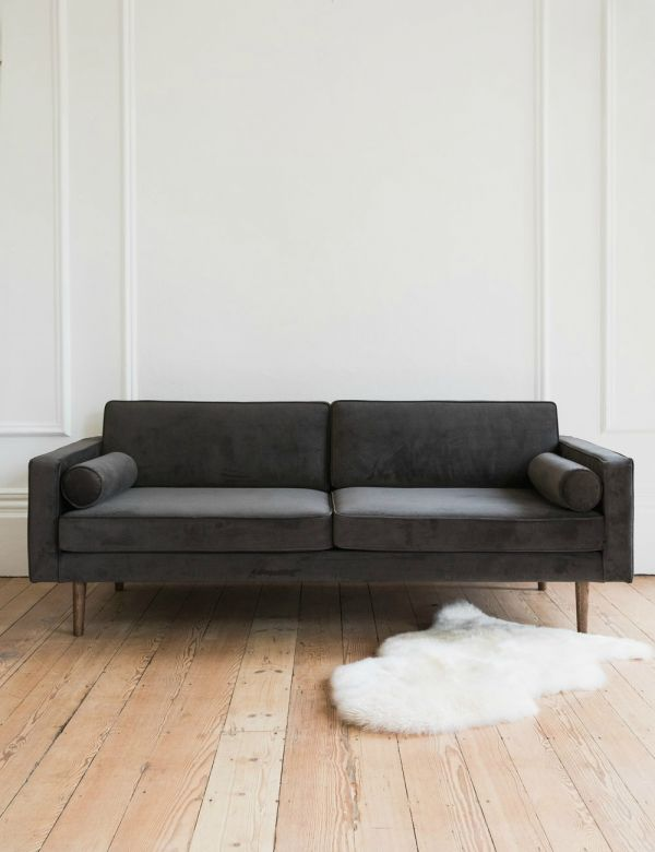 Nordic Three-Seater Velvet Sofa