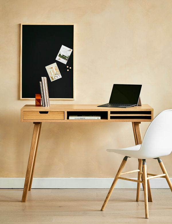 Oak Desk With Compartments
