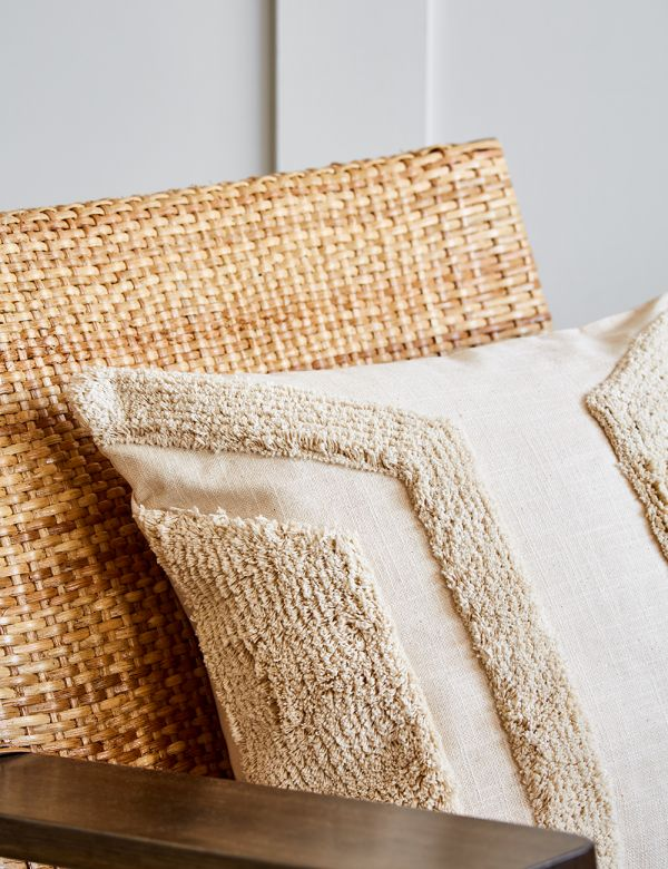 Off White Textured Cushion - Angles