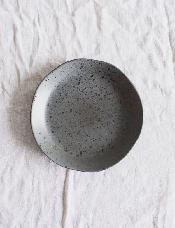 Organic Ceramic Side Plate - Dark Grey