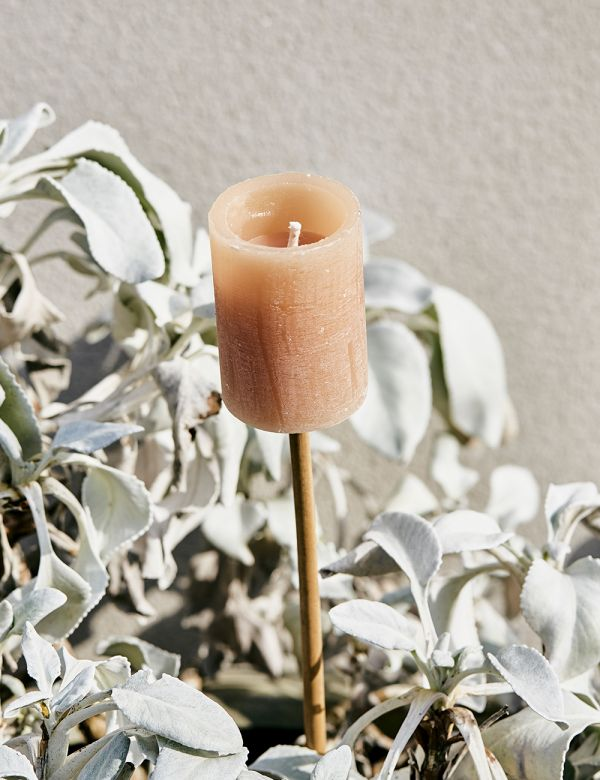 Outdoor Bamboo Candle Stick - Nude