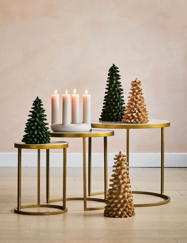 Tan Paper Pulp Christmas Tree - Two Sizes Available
