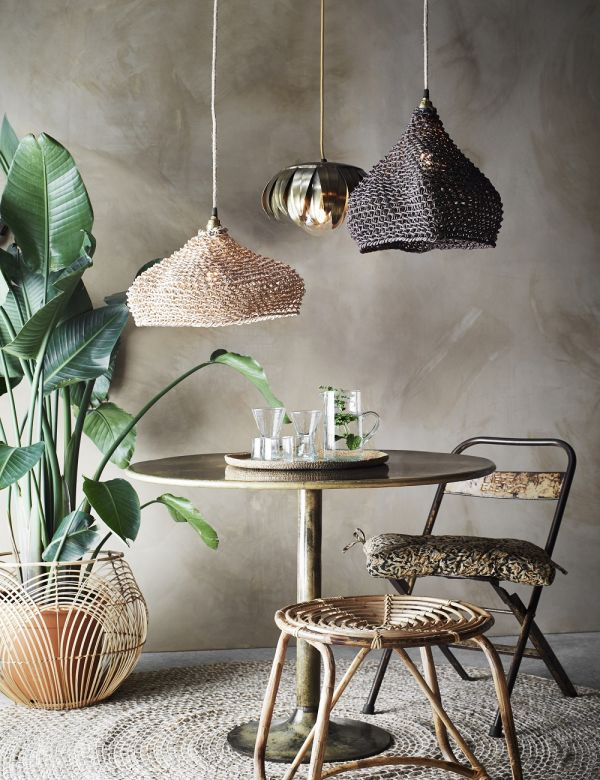 Paper Rope Pendant Lamp Shade - Two Colours Available