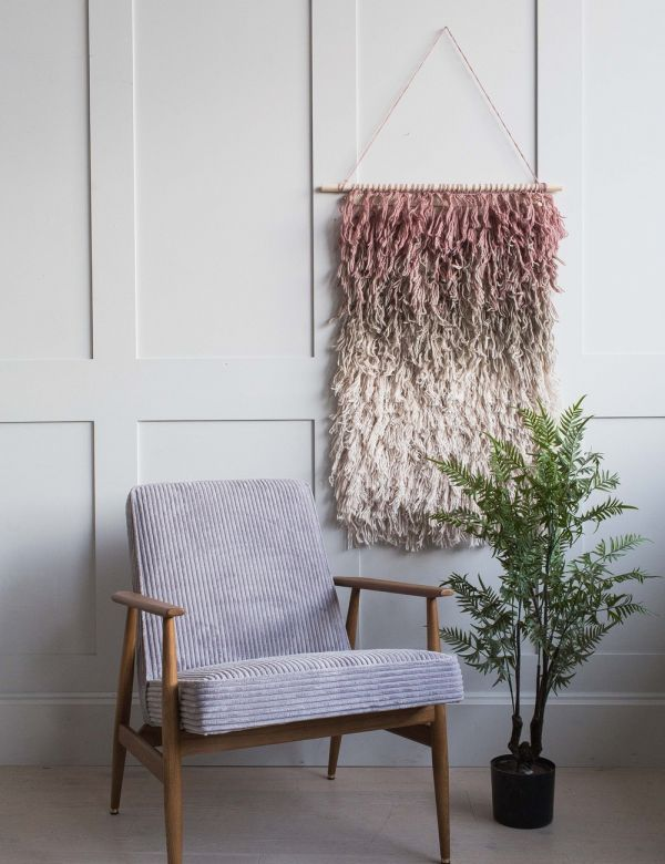 Pink Ombre Wool Wall Hanging