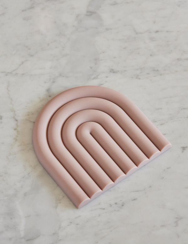 Pink Rainbow Trivet