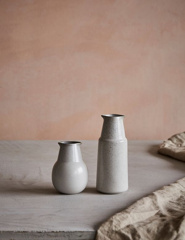 Pion White Speckled Porcelain Bottle - Two Sizes Available