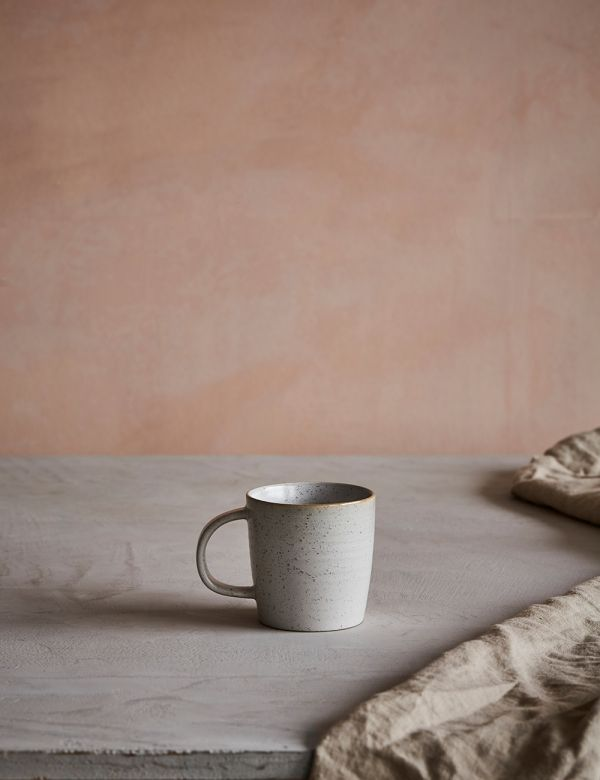 Pion White Speckled Porcelain Mug
