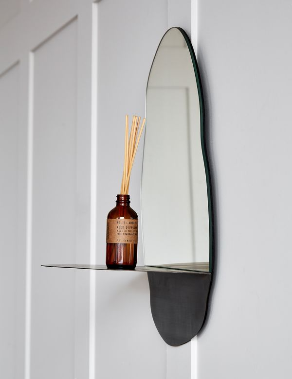 Puddle Mirror With Shelf - Two Sizes Available