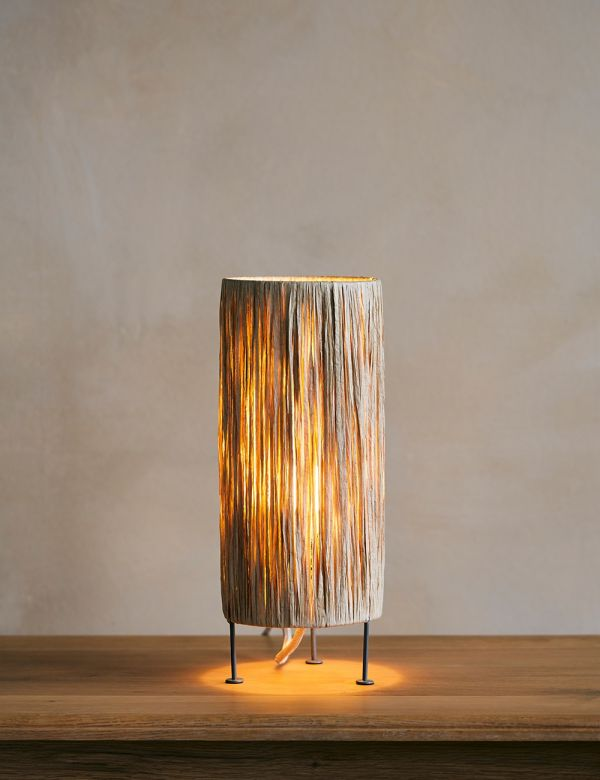Raffia Natural Table Lamp