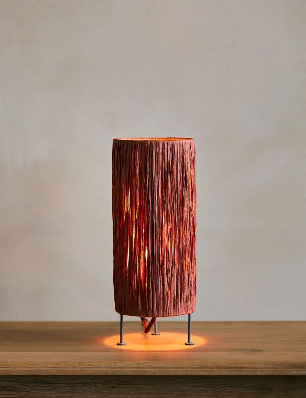Raffia Rust Table Lamp