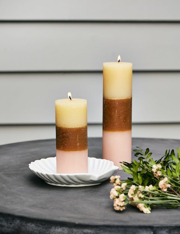 Rainbow Pillar Candle - Two Sizes Available