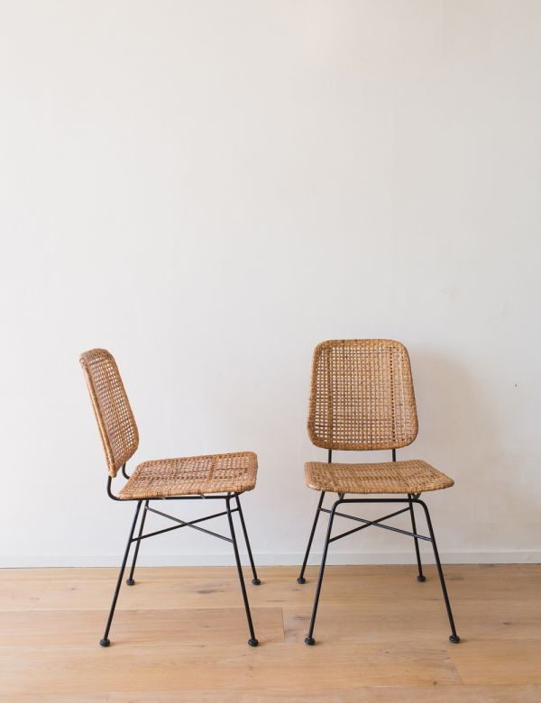 Rattan & Iron Dining Chair