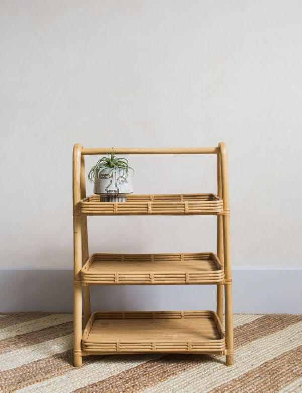 Rattan Storage Stand - Natural