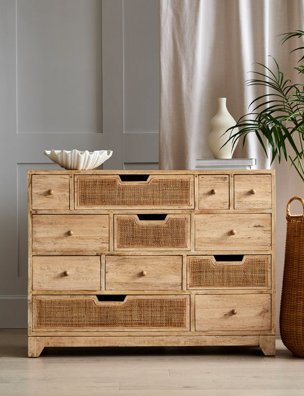 Rattan Webbed Multi Chest of Drawers