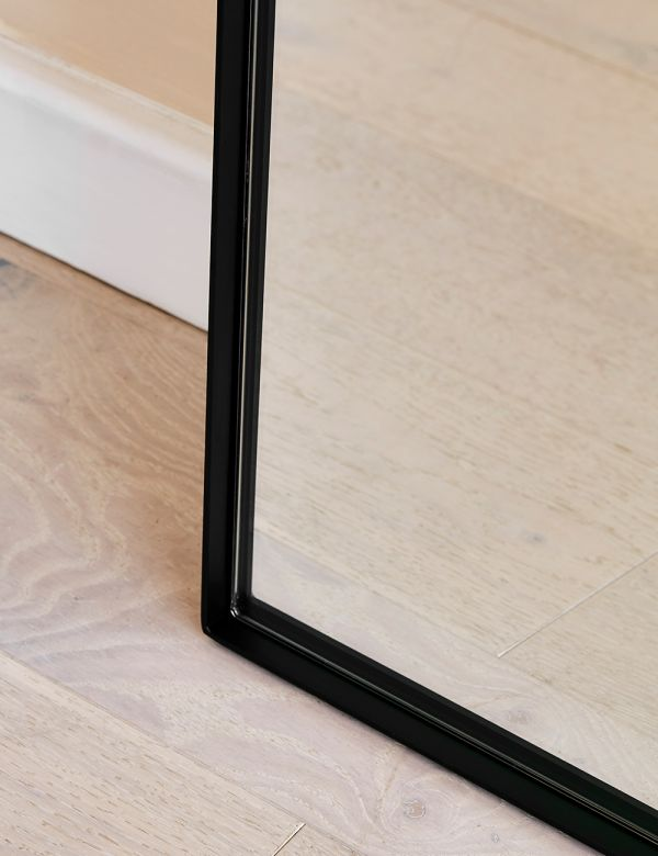 Rectangular Floor Mirror - Black