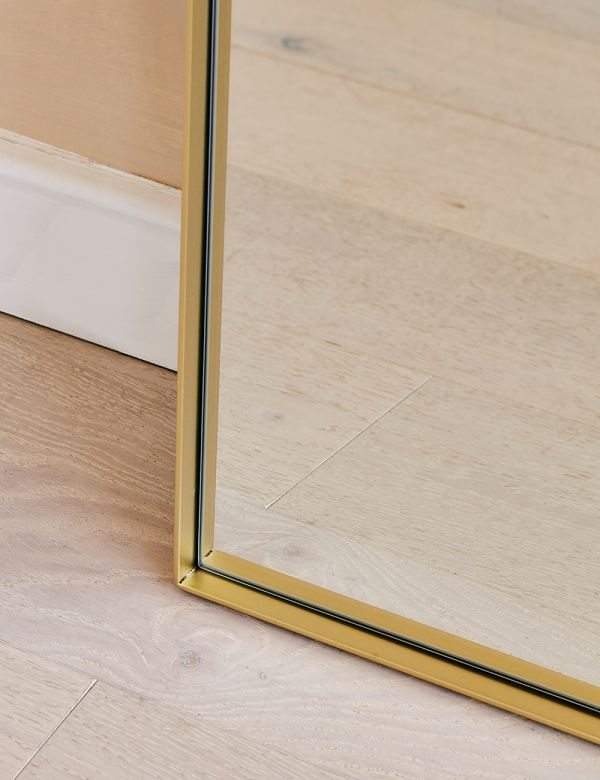 Rectangular Floor Mirror - Champagne