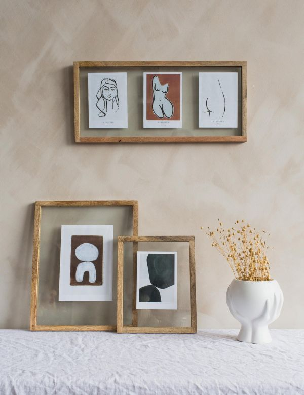 Rectangular Indu Wooden Frame - Three Sizes Available