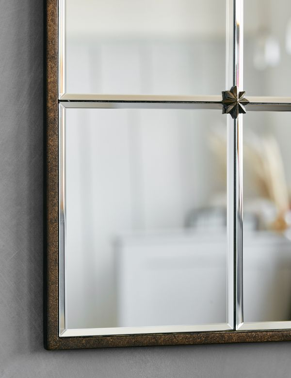 Rectangular Paned Mirror