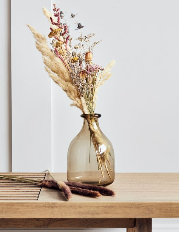 Recycled Brown Glass Bud Vase