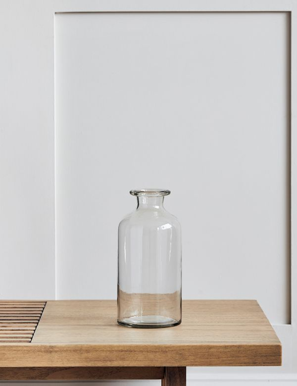 Recycled Clear Glass Bottle Vase