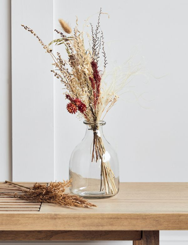 Recycled Clear Glass Bud Vase