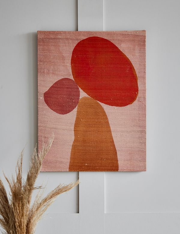 Recycled Silk Wall Art - Connected