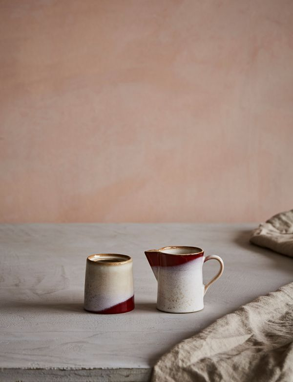 Retro Ceramic Milk Jug & Sugar Pot