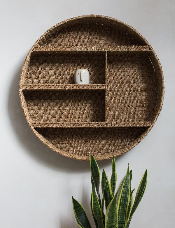 Round Bankuan Grass Shelf
