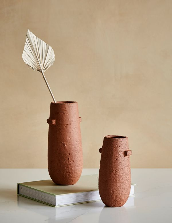 Rust Stoneware  Vase With Handles - Two Sizes Available