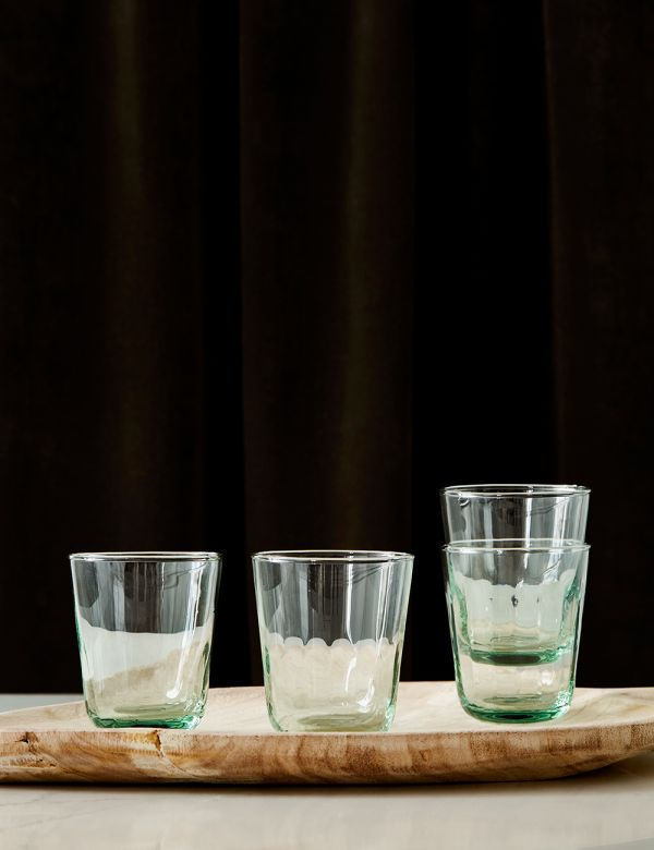 Set of Four Recycled Glass Tumblers