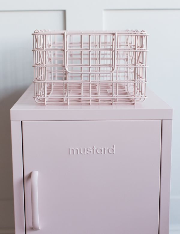 Mustard Made Wire Baskets - Blush Pink