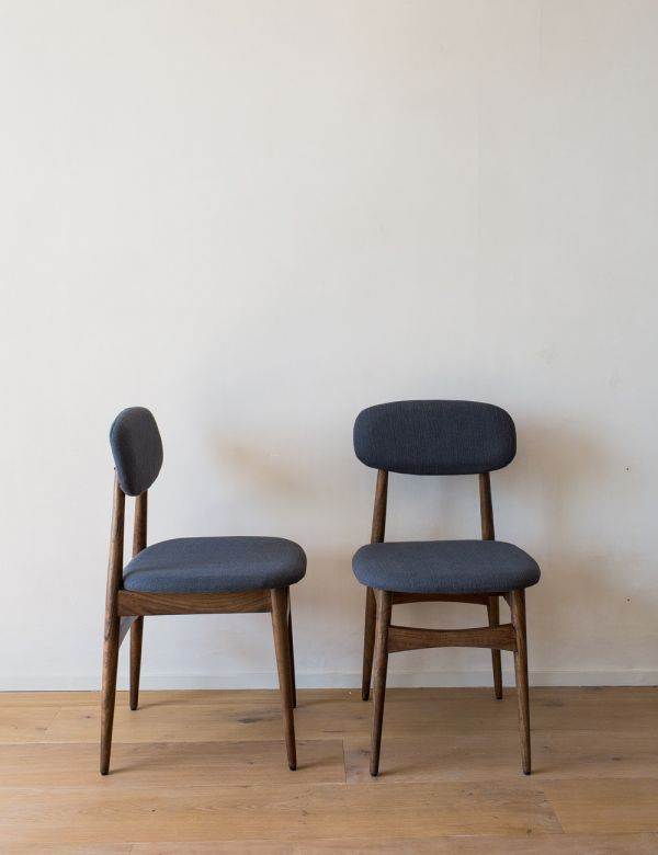Set of Two Barcelona Grey Fabric Dining Chairs