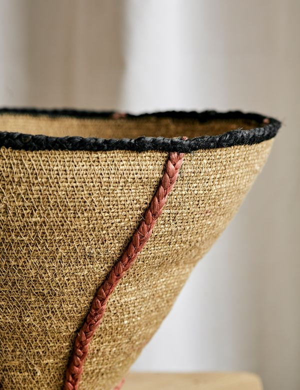 Set of Two Seagrass Japandi Baskets