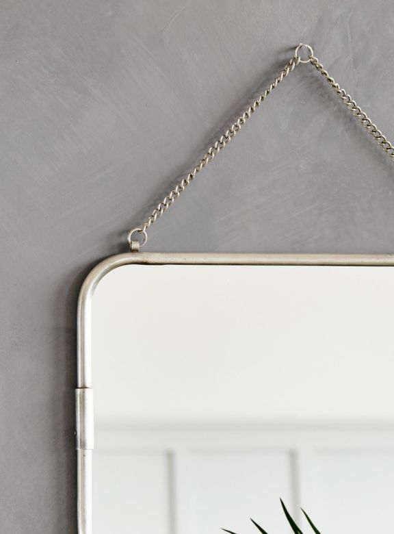 Small Antique Silver Wall Mirror